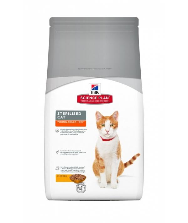 Для молодых кастрированных котов и кошек: 6 мес. – 6лет (Young Adult Sterilised Cat Chicken) 9357R