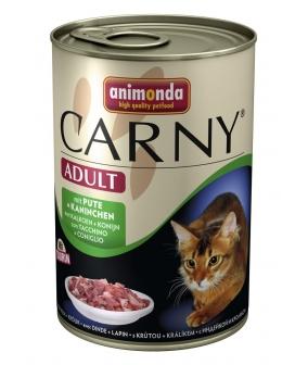 Консервы для кошек с говядиной, индейкой и кроликом (CARNY Adult) 001/83725