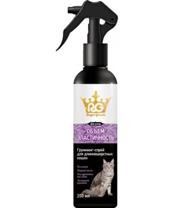 Royal Groom грумминг – спрей объем и эластичность для длинношерстых кошек