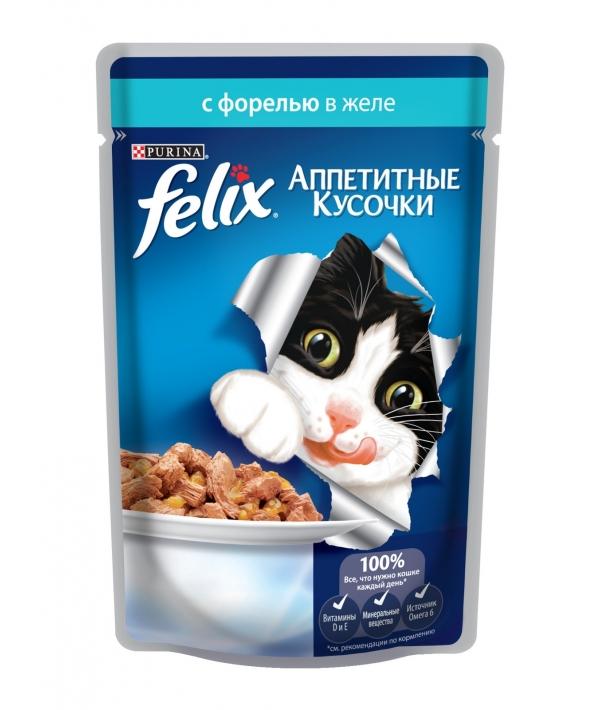 Кусочки в желе для кошек с форелью 12220055/12318914