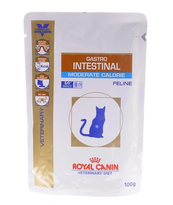 Кусочки в желе для кошек при лечении ЖКТ (Gastro Intestinal Moderate Calorie) 767001/ 767101