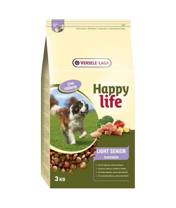 Для пожилых собак с курицей, контроль веса (Happy life Light Senior Chicken) 431108