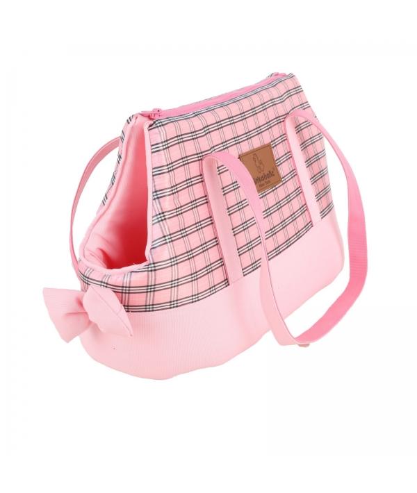 """Сумка – переноска для собак до 3,5 кг в клетку """"Виктория"""", розовый (VICTORIAN CARRIER/PINK/FR) NAPA – AB7022 – PK – FR"""