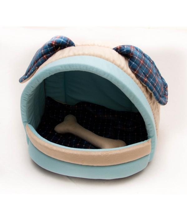 Домик – лежанка «Мята» с косточкой и съемной подушкой для собак 41*32*30 РП