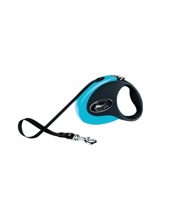 Рулетка – ремень для собак до 12кг, 3м, черно – голубая (Collection S tape 3m black/blue)