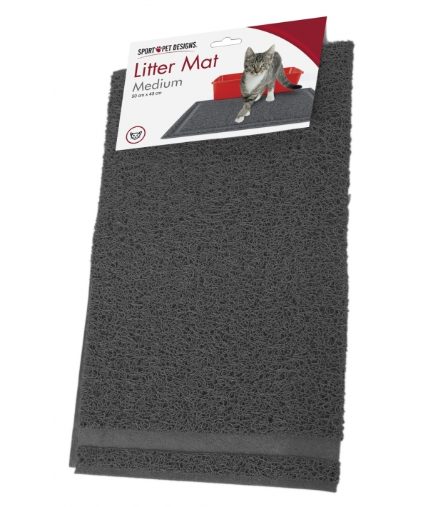 Коврик для туалета 40 x 50 x 0.7(Medium Rubber Litter Mat)