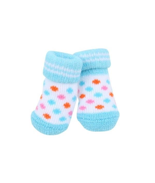 Носочки для собак в горошек, голубой, размер M (9 см х 3 см) (POLKA DOT II/SKY BLUE/M) PAOC – SO1269 – SB – M