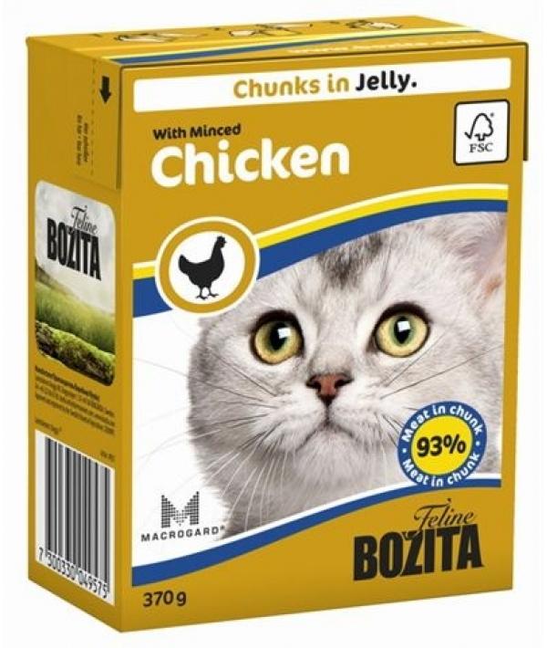 Кусочки в ЖЕЛЕ для кошек с рубленной курицей (Minced Chicken)