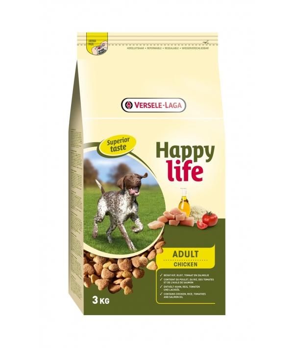 Для собак с курицей и рисом (Happy life Adult Chicken) 431118