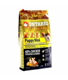 Для щенков малых пород с курицей и картофелем (Ontario Puppy Mini Chicken & Potatoes 6,5kg) 214 – 10037 //