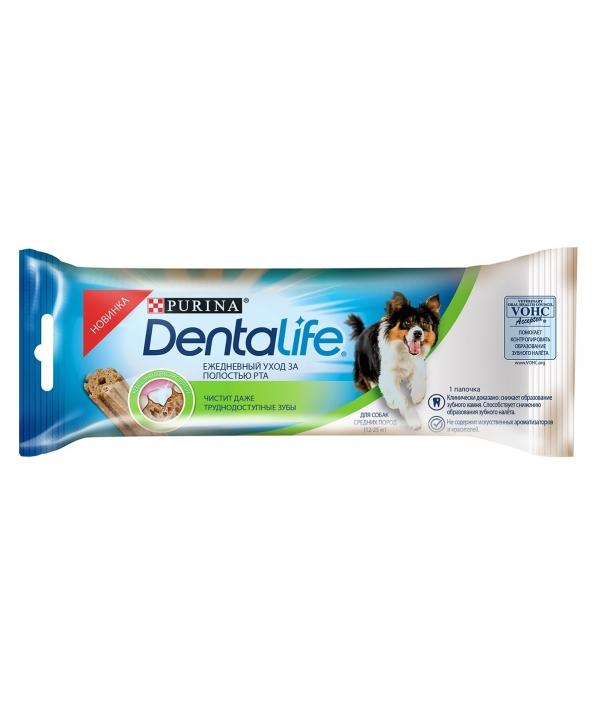 Лакомство для собак средних пород Здоровые зубы и десна DENTALIFE Medium Single 12366293