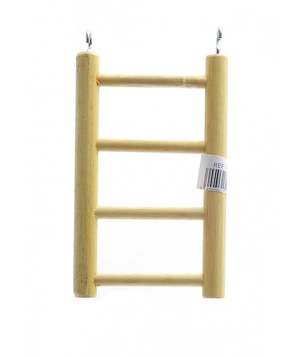 Деревянная лесенка для птиц 4 ступени 8.5*15 см (Ladder wood 4 rungs 8.5x15 cm) 14391