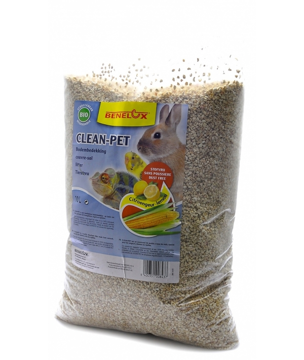 """Кукурузный наполнитель для кроликов, рептилий, птиц """"Лимон"""" (Clean – pet lemon) 3325"""