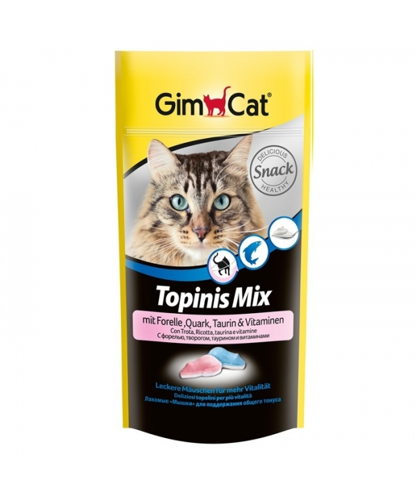 """Витамины для кошек """"Мышки"""" с форелью, творогом и таурином, 418421"""