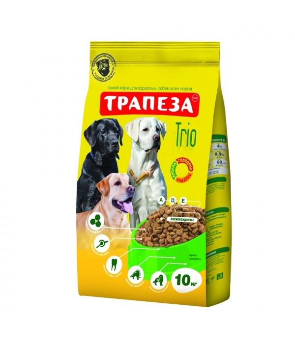 Трио для взрослых собак, три вида мяса