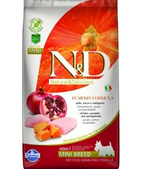 N&D GF Беззерновой корм для собак мелких пород с тыквой, курицей и гранатом 2016