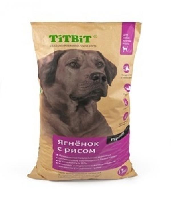 Сухой корм для собак крупных пород ягненок с рисом (008362)