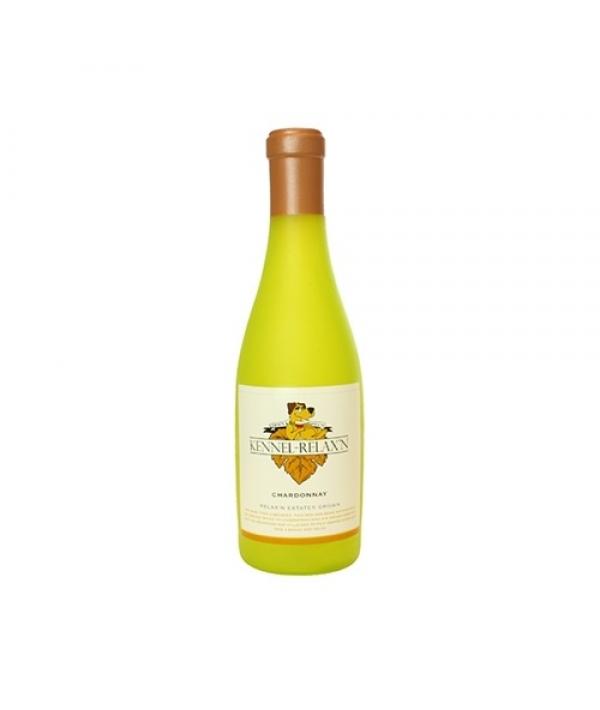 "Виниловая игрушка – пищалка для собак Бутылка вина ""Шардоне релакс"" (Wine Bottle Kennel Relaxin) SS – WB – KR"