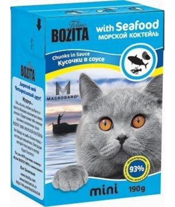 Mini Кусочки в соусе для кошек – морской коктейль (Seafood)