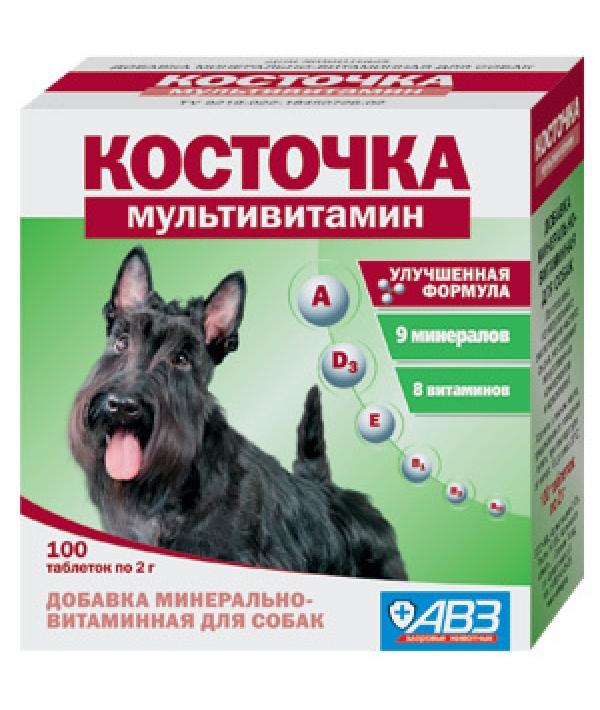 Подкормка Косточка Мультивитамин для собак,, 100таб.