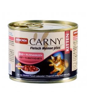 Консервы для котят с говядиной и сердцем индейки (Carny Kitten) 83489