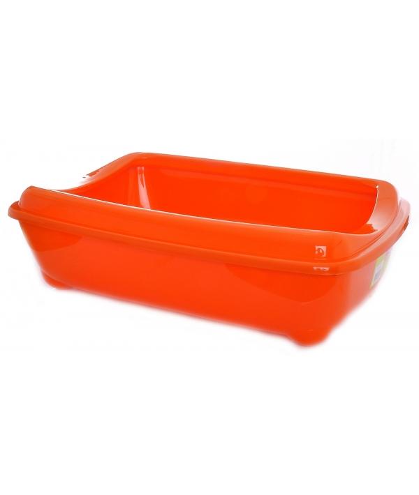 Туалет – лоток средний с рамкой artist medium + rim, 42х30х12 оранжевый