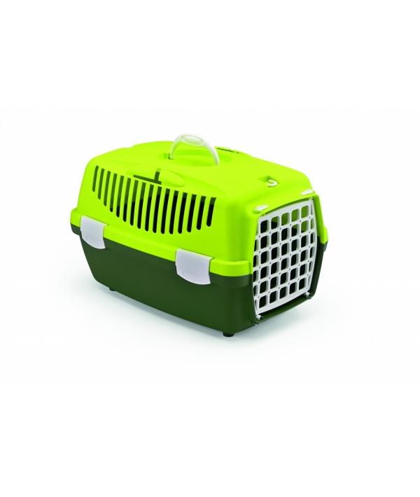 Переноска Gulliver 1 Trendy Colour салатово – зеленая (до 6кг) с ПЛАСТИК.дверкой, 48*32*31см (97284)