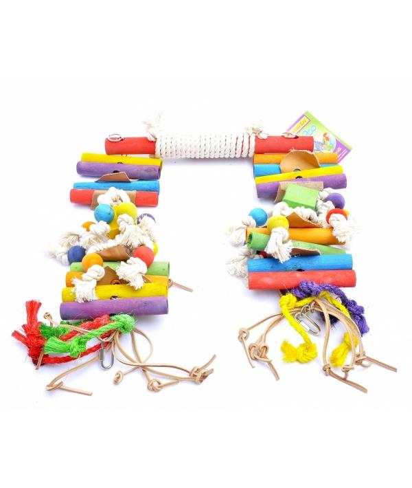 """Качелька XXL для длиннохвостых попугаев """"Кокос"""" 37*14*43 см – 2 кг (Coco toy xxl for parrot/parrakeet Super Swing) 14213"""