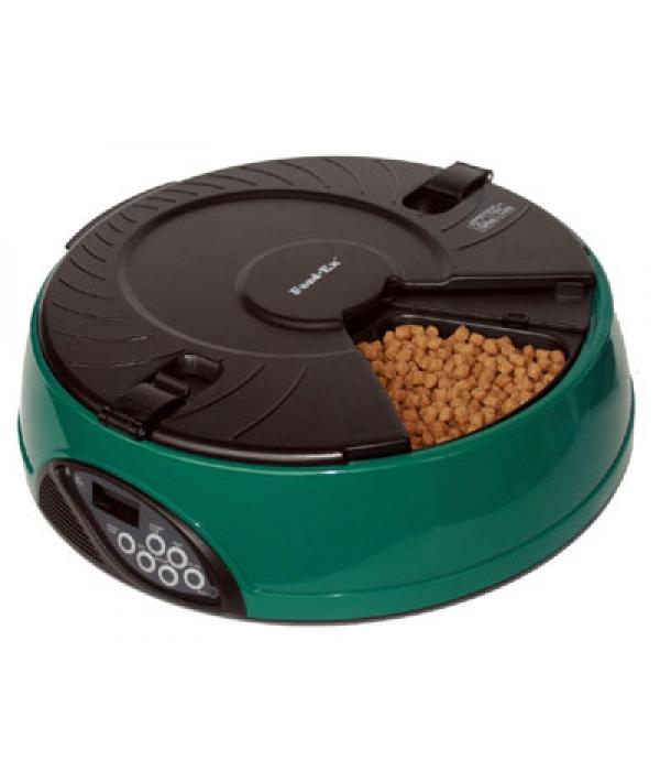 Автокормушка на 6кормлений для сухого корма и консерв Зеленая PF6G