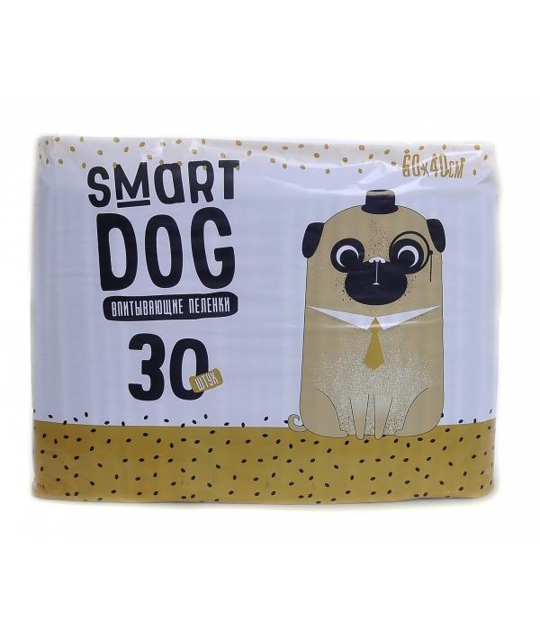 Впитывающие пеленки для собак 60*40, 30 шт
