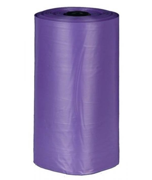 Пакеты для уборки за собаками, 3 л, 4 рулона по 20 штук, с ароматом лаванды, сиреневые 22839
