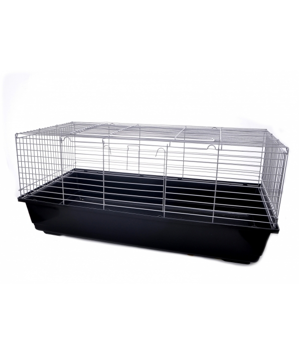 Клетка для кроликов 101,5 * 56 * 31,5 см (Silver wire/ black base senna rotterdam rabbit cage) 25086
