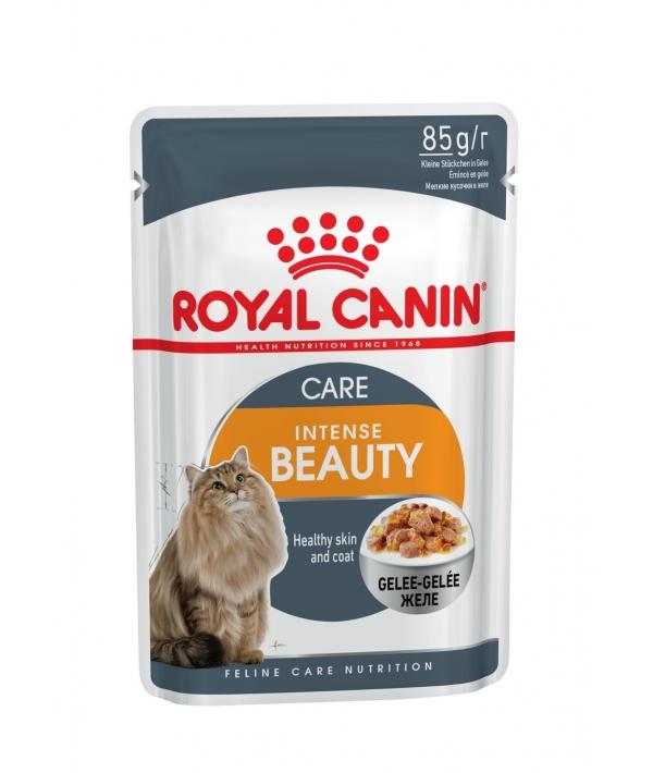 Кусочки в желе для кошек 1–7 лет: идеальная кожа и шерсть (Intense Beauty) 785001