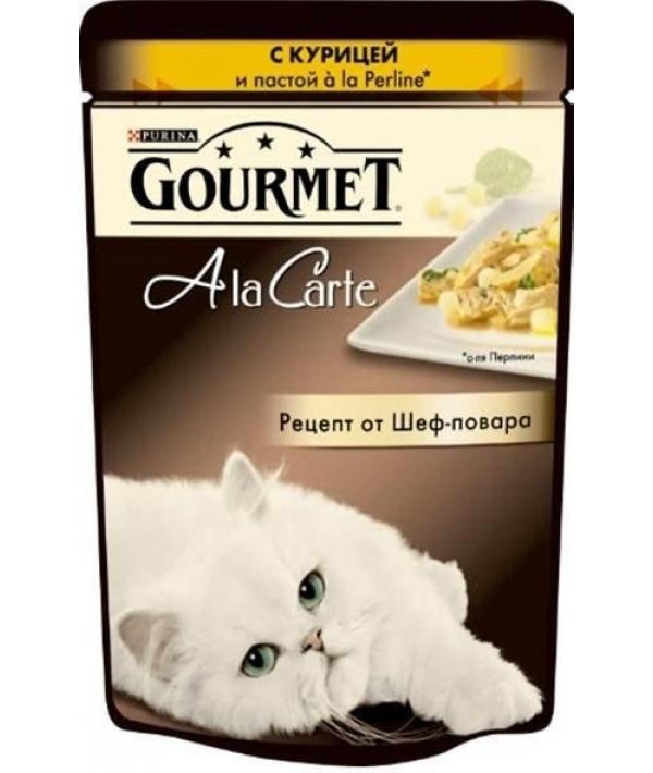 Паучи в подливе для кошек с курицей и пастой (Alcte) 12242400/12318021