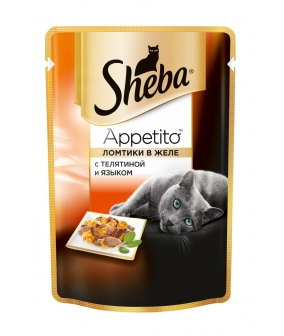 Паучи для кошек ломтики в желе с телятиной и языком 10139820