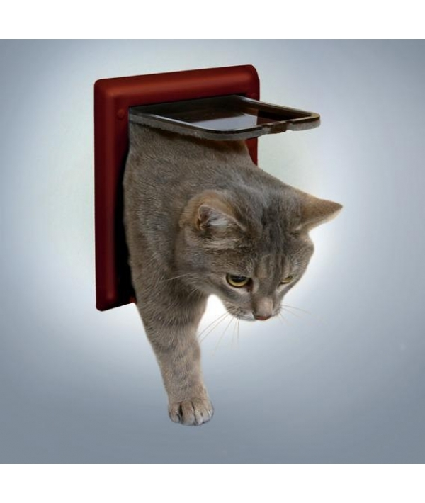 Дверца для кошки (15,8х14,7см) коричневая 38603