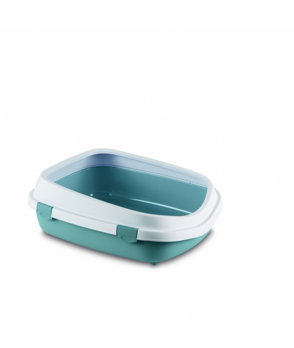 Туалет Queen с рамкой, синий, 55*71*24,5см (TOILETTE QUEEN BLU ACCIAIO/BIANCO) 96860