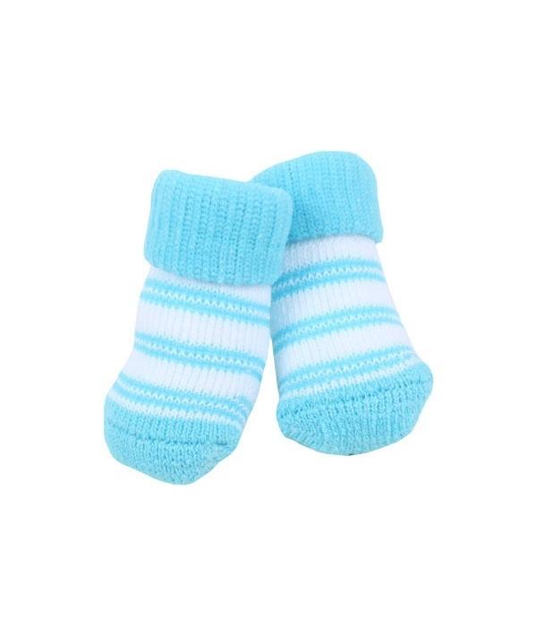 "Носочки для собак в полоску ""Долче"", голубой, размер M (9 см х 3 см) (DOLCE/SKY BLUE/M) PAOC – SO1268 – SB – M"