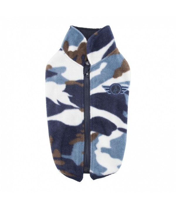 """Безрукавка камуфляжной расцветки с замком на спине """"Летчик"""", голубой, размер M (длина 25,5 см) (AIRMAN/BLUE/M) PAQD – TS1471 – BL – M"""