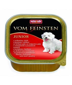 Консервы для щенков и юниоров с говядиной и мясом домашней птицы (Vom Feinsten Junior)001/82620
