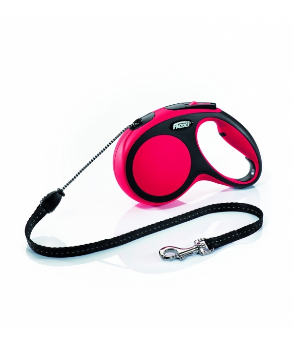 Рулетка – трос для собак до 20кг, 5м, красная (New Comfort M Cord 5 m, red)