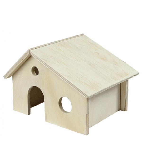 Домик для грызунов деревянный (8551)