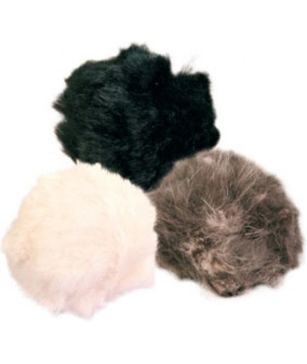 Игрушка д/кошек 1 мягкий меховой мячик 3 см – 4123К
