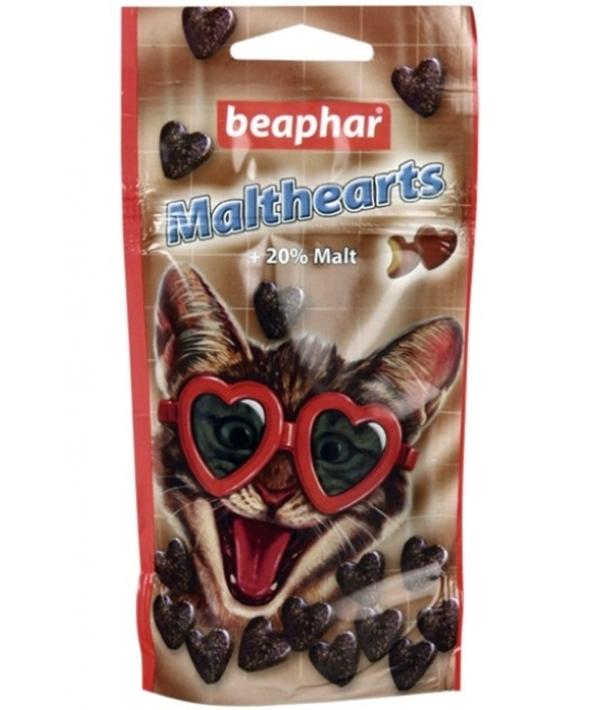 """Лакомство """"Сердечки"""" для вывода шерсти (Malt Hearts + 20 % malt), 150шт. (12930)"""