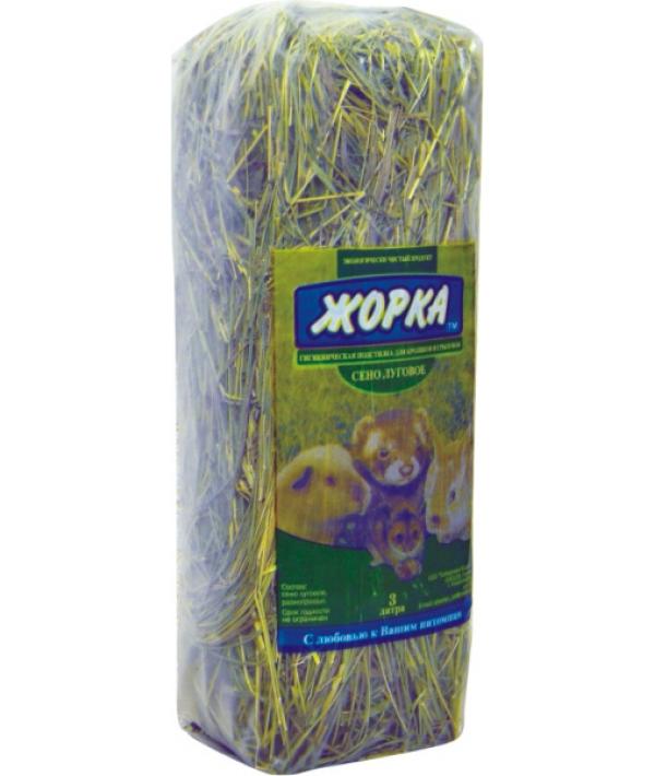 Луговое сено для грызунов, 3 л
