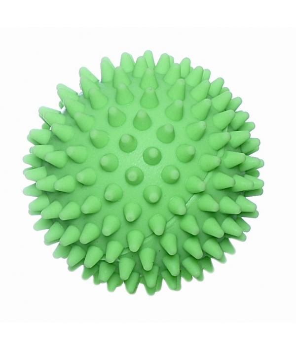 """Игрушка для собак """"Мяч массажный №2"""" винил зеленый"""