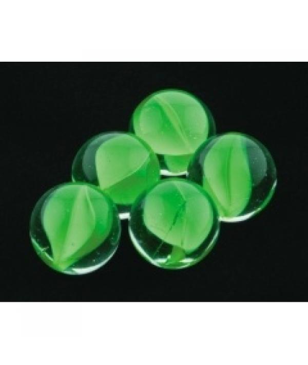 Грунт аквариумный, прозрачный со вставками зеленого цвета, 16мм, 200г, стекло (5623003)