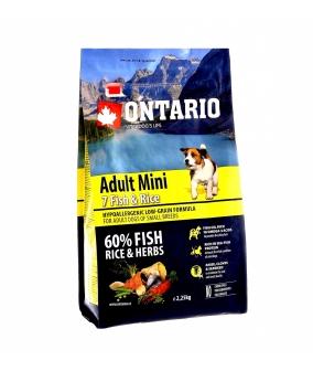 Для собак малых пород с 7 видами рыбы и рисом (Ontario Adult Mini 7 Fish & Rice 0,75kg) 214 – 10573