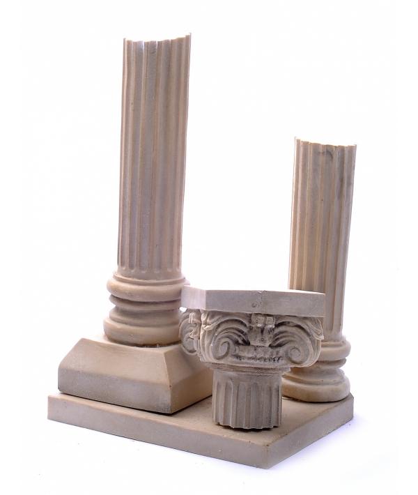 """Декор для аквариумов """"Две колонны"""", 13 * 14 * 21 см (Athena 2 columns left large aqua decor) 44951"""