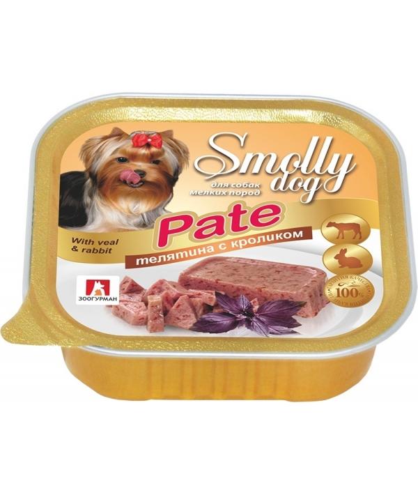 """Консервы для собак """"Smolly dog"""" Телятина с кроликом (2472)"""